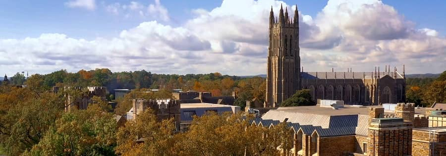 Duke University campus view