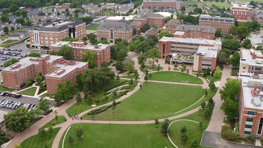 University of Dayton campus view
